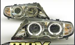 3 SERIES S46 HEADLIGHTS ANGEL EYE CHROME, (Non Genuine)