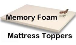 MEMORY FOAM MATTRESS TOPPERS - UNCOVERED !!! SIMPLY
