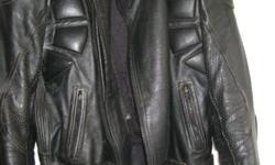 Men's biker leather jacket - ROX - Size 44 - Good