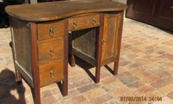 Old meranti desk Very stable All drawers still opens R