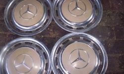 Mercedes w115 / w123 original 14 inch steel hub caps. 2