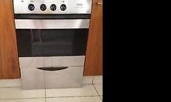 Silver defy oven with warmer draw, good