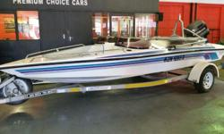 White hull, 115HP Evinrude, Trailer. Includes: 8x life
