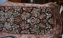 Beskrywing A stunning silk on silk Kasshmiri carpet in