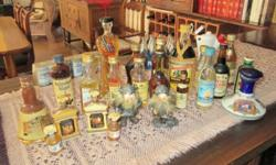 Set of 270 miniature liquor bottles collected from all