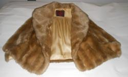Genuine Mink Fur coat - excellent condition large / x -