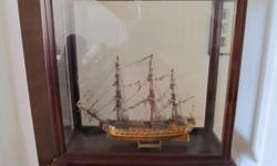 MODEL SHIPS IN CASE SUPERBE AND ST GERAN PRICE - PER