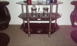 MODERN GLASS SIDE TABLE GLASS , SILVER & BLACK