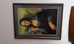 Make me an offer framed Mona Lisa print size 1070mm x