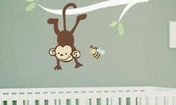 Our Monkey Branch Baby Room Decal (Wall Sticker) is a