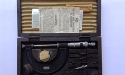 "Moore and Wright micrometer - 0"" to 2"" In original box."