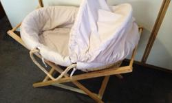 Moses Basket with stand and mattress From newborn to