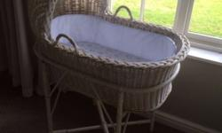 Selling our cane Moses basket/crib. Great condition.