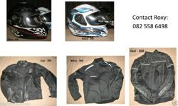 Motorbike jackets and helmet for sale