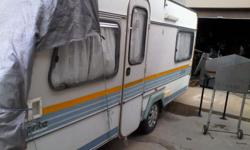Woodrot repaired by Eden Caravans. Extended tent with 2