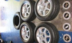 RIMS+TYRES  13inch TSW rims silwer 4114 pcd with 30%