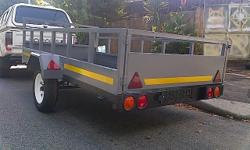 3000 x 1500 x 450 High sides Trailer has 13inch new