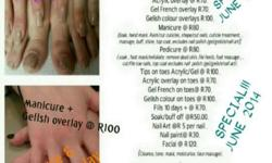 NAILS & BEAUTY BY SHA 074 530 4980 JUNE GElISH CRAZY...