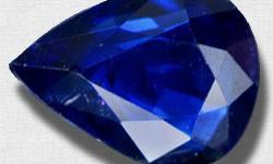 Beskrywing Intense Blue Natural Pear cut VS1 Sapphire