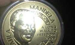 Nelson Mandela Gold Coin 2 Ounce with Box &