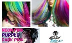 Our Neon Hair Dye is available in: � Pink � Purple �