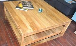 Never been used solid mango wood coffee table. Retails