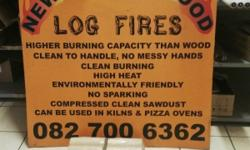 New age firewood. Higher burning capacity than wood.