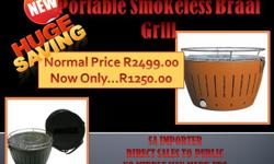 NEW!!! An indoor / outdoor table-top CHARCOAL braai