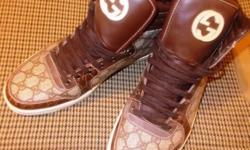 Hightop Gucci sneakers size 11 still new for sale at