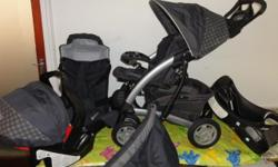 Graco Mirage Travel system Turquoise Car seat and pram.