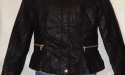 Various ladies pu leather jackets different sizes and