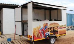 NEW MOBILE FOOD TRAILER - 3 m by 2 m by 2,1 m high