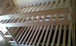 We sell pine bunk beds that come apart and can make 2 x