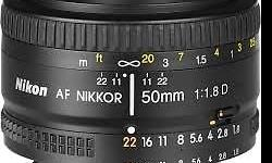 Nikon 50mm f1.8D lens for sale. Perfect condition.