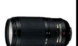 Nikon 70-300 IF ED VR in New Condition 3 months old. I