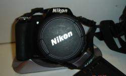 NIKON COOLPIX, black, model P90, complete, for sale.
