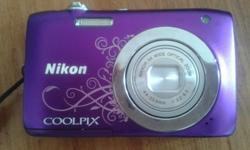 Selling my purple Nikon Coolpix S2600. Hardly been