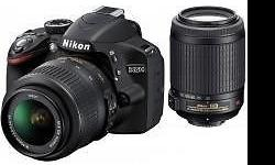 Nikon D3200 + 18-55mm + 55-200mm DX Bundle with extra