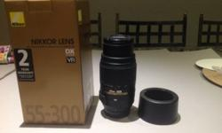 Nikon 55-300mm lens - in excellent condition
