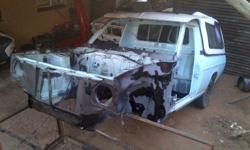 Nissan 1400 body, most rust repaired, Diff, White