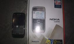 Nokia E71 complete in box for sale with 3 new covers