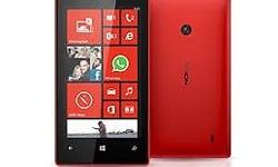 Nokia lumia 520 with all accessories headset charger,