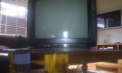 NU-TEC, 54cm colour tv black in good condition and with
