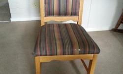 Oak chairs for sale. R350 for 2, or R175 each. In