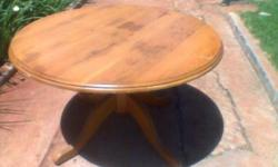 Solid Oak Round Dining Room Table - 1350mm in diameter