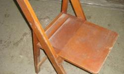 foldable oak chairs . about 70 yeas old . in good