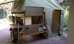 We hire out fully equipped camping trailers at R350 per