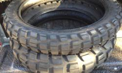 Almost new x2 Metzeler off road tyres front and back