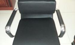 6 x black leather office chairs brand new at a give