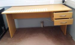 We have 3 desks, 1 cabinet and 4 chairs for sale.